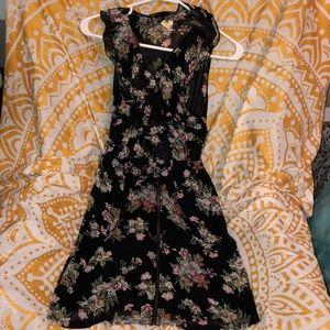 Flower patterned black Needle & Thread dress